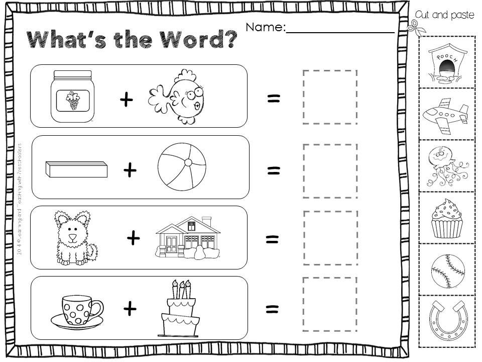Compound Word Puzzles Are A Fun Way For Children To Learn How Two Words Are Joined Together Compound Words Compound Words Worksheets Compound Words Activities