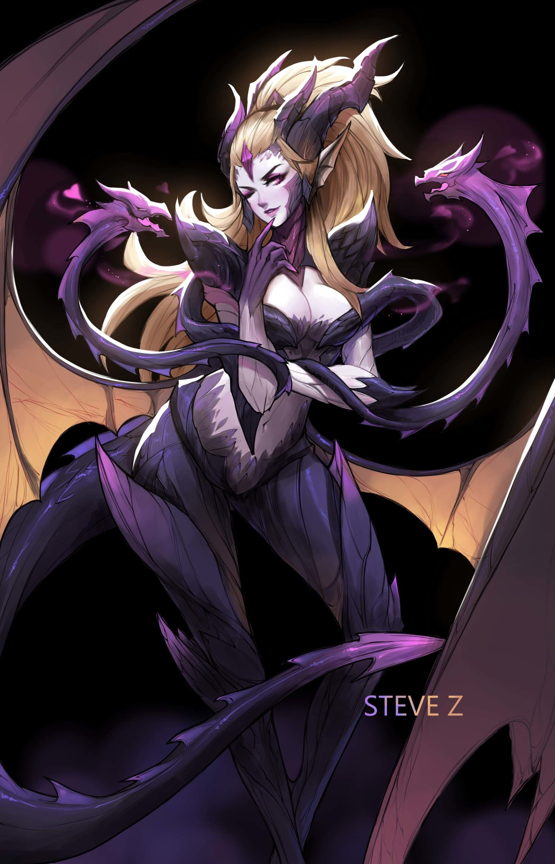 ArtStation - Dragon Sorceress Zyra , Steve Zheng
