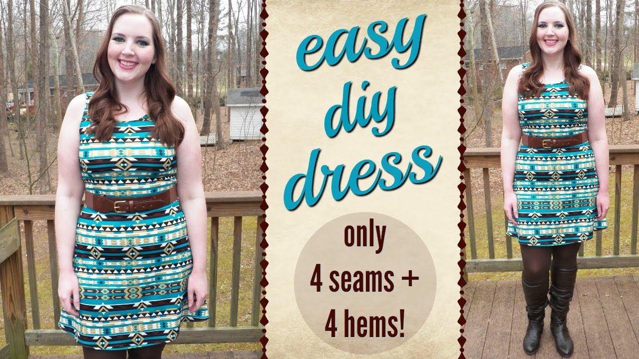 Diy easiest dress sewing tutorial ever how to sew easy