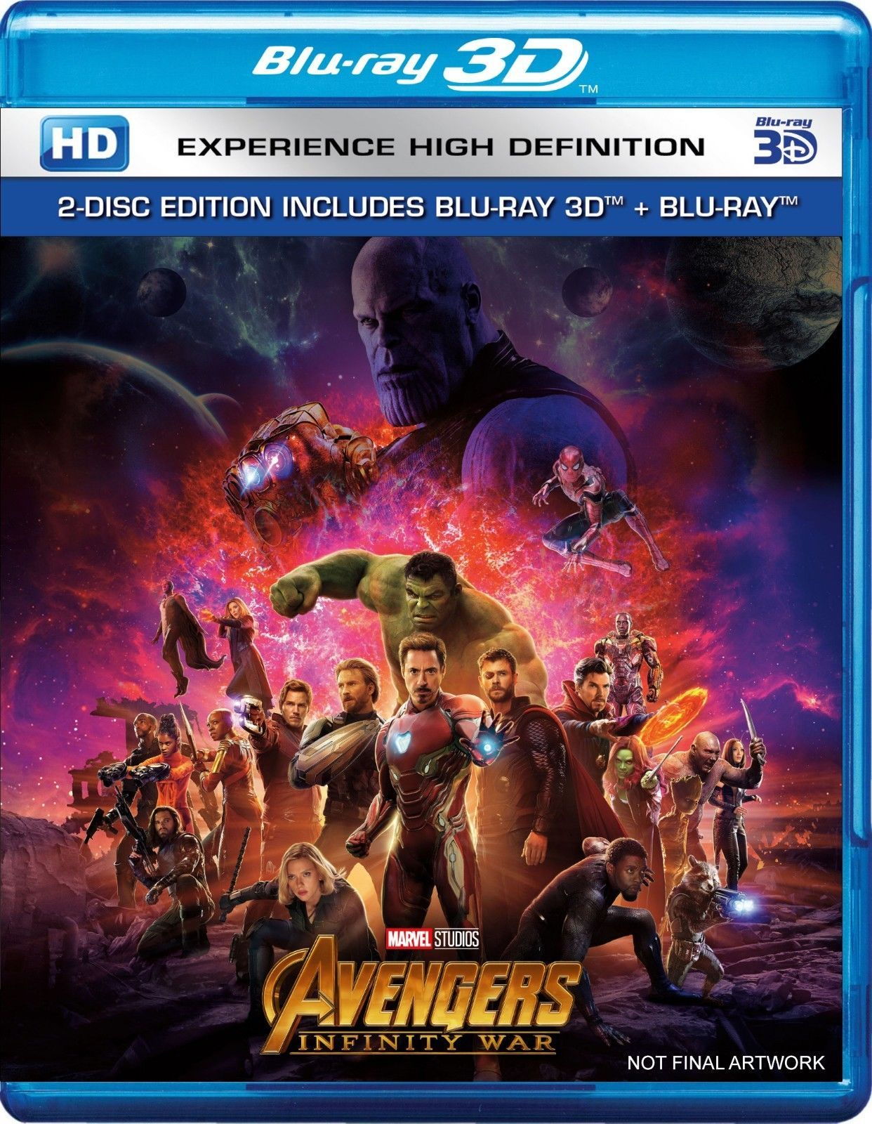 Avengers Infinity War Blu Ray 3d Blu Ray Region Free 2018 New 마블 영화 포스터 빈티지 영화 포스터