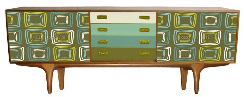 Mid Century Modern Sideboard With Tv