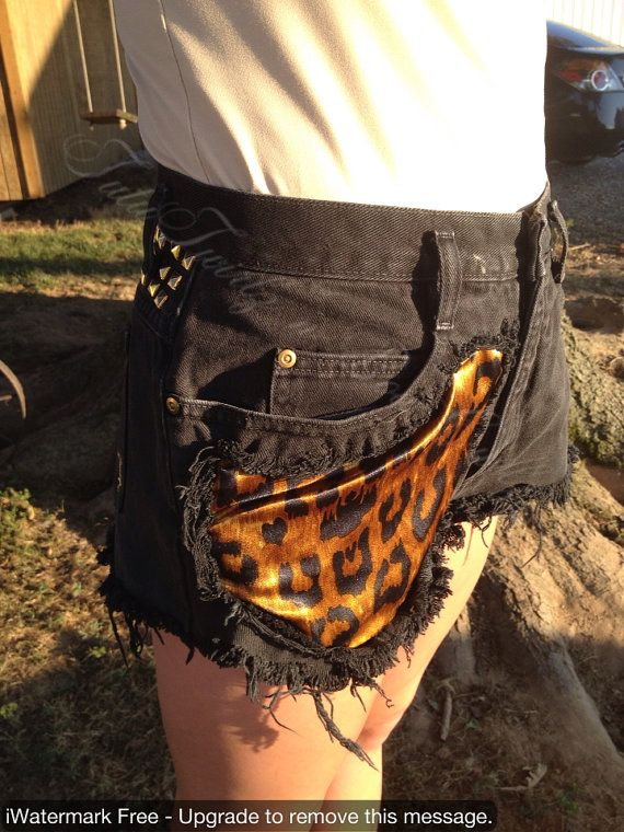 Lin-Tage Collection High Waist Cheetah Shorts on Etsy, $25.00