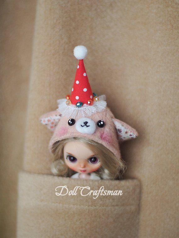 Petite Blythe hat, hat for Petite Blythe,Petite blythe accessories,doll accessories,doll hat,handmade hat, Hatbellissima #dollaccessories