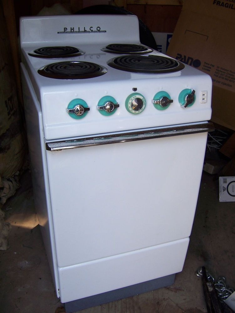 Great Philco Electric Range Oven Stove 40s 50s Small Apartment EBay