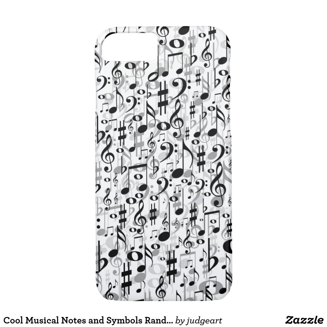 Cool Musical Notes And Symbols Random Pattern Iphone 87 Case My