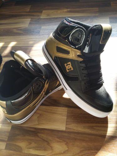Original DC Shohes Schuhe Herren Sneaker High GOLD Gr. 44