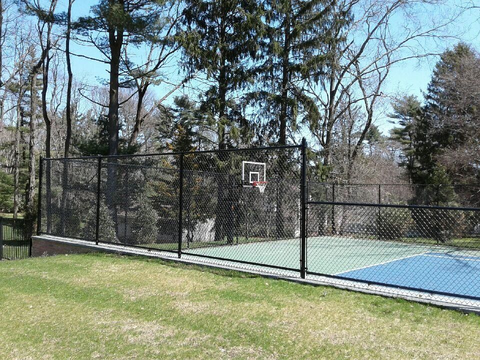 Basketball Court Chain Link Fence Gates And Railings Fence Installation
