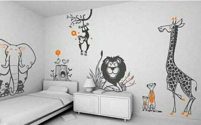 Çocuk odası duvarı childroom Wandgestaltung