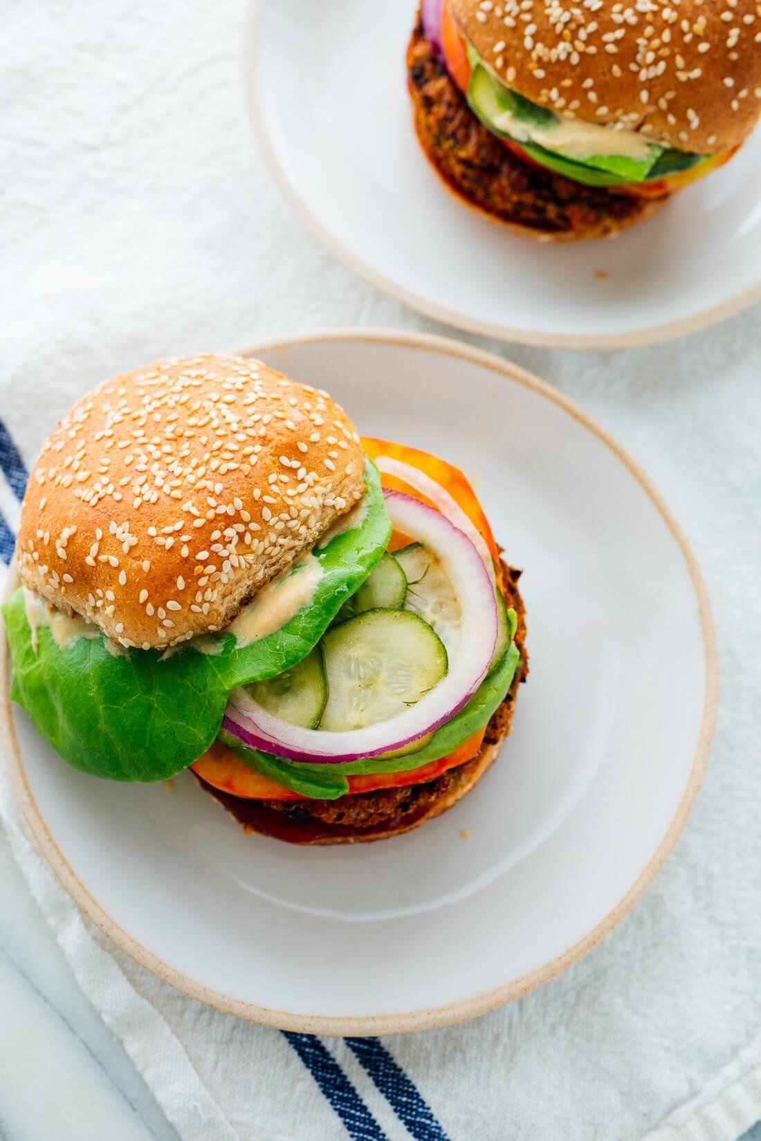 Favorite Veggie Burgers Recipe Cookie And Kate Recipe In 2020 Veggie Burgers Recipe Veggie Burger Recipes