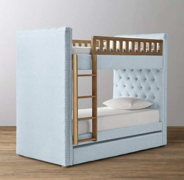 Chesterfield Tufted Bunk Bed With Trundle Bunk Bed Designs Bunk