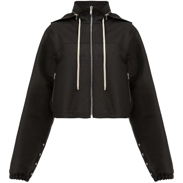 Rick Owens detachable hood zipped jacket (€1.300) ❤ liked on Polyvore featuring outerwear, jackets, black, zipper jacket, detachable hood jacket, removable hood jacket, rick owens and rick owens jacket