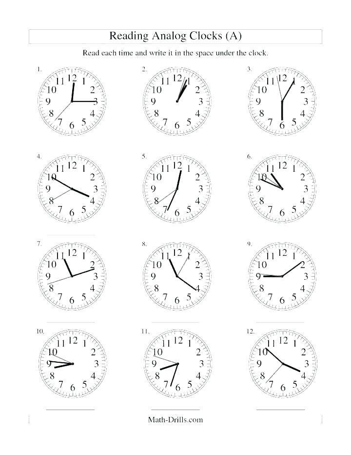 22 Telling Time Worksheets 3rd Grade 3rd grade math clock