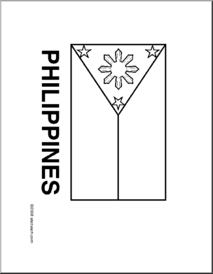 Flag philippines line drawing of philippines flag to color flag philippines line drawing of philippines flag to color publicscrutiny Image collections
