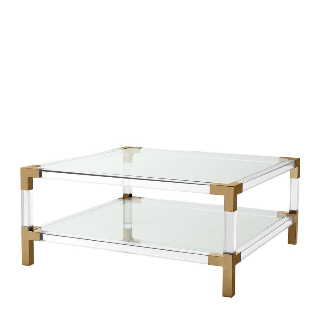 Eichholtz Royalton Acrylic Brass Coffee Table Brass Coffee Table Coffee Table Home Coffee Tables [ 1024 x 1024 Pixel ]