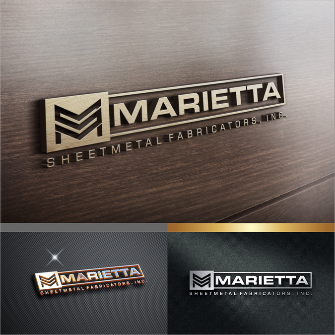 Heavy Metal Logo For A Sheetmetal Shop By Waldjinah Logo Wall Logo Design Metallic Logo
