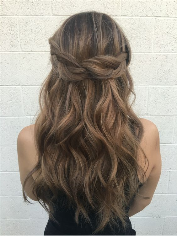 Braid idea, medium brown tone