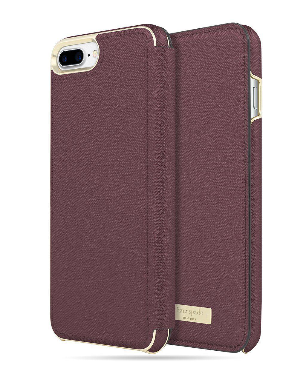 Kate spade folio case for iphone 6 7 8 plus folio