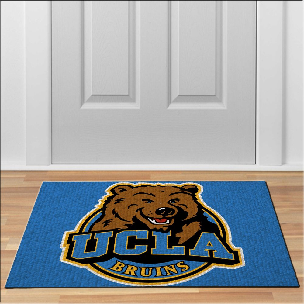 Nice Ucla Bruins Mascot Rug Football NCAA Collage Floor Durable Door Mat  Non Slip