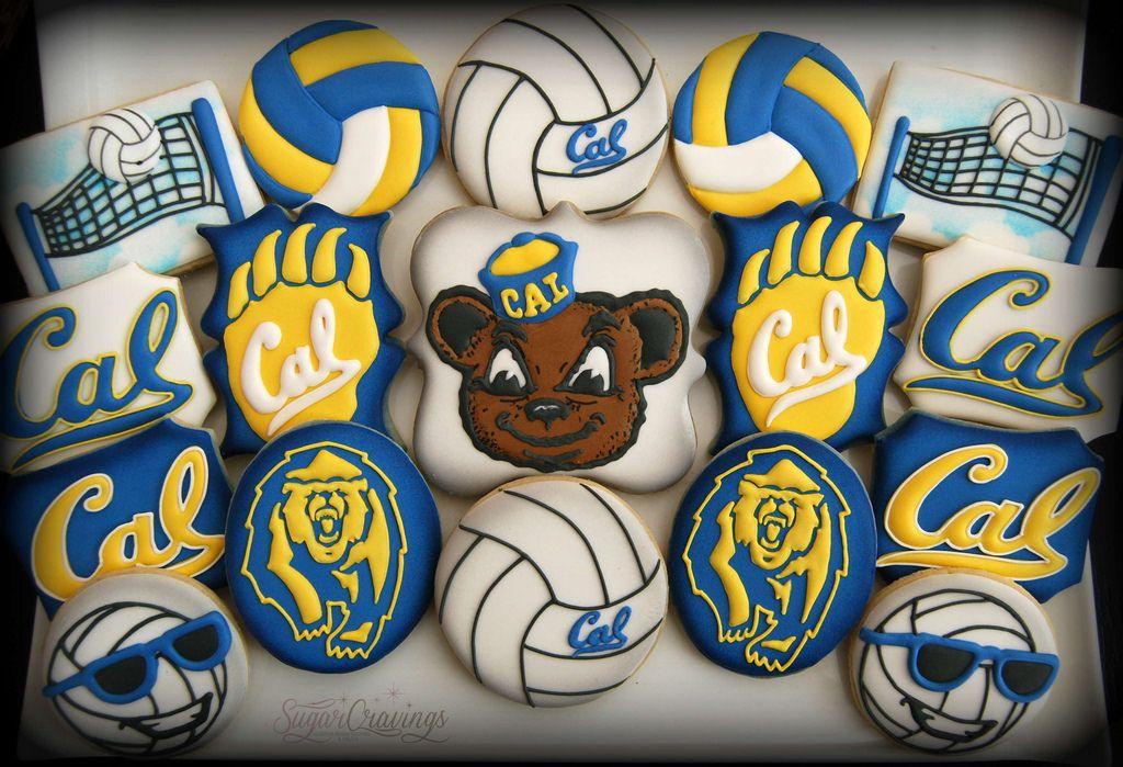 Erin Cal Volleyball 2 1 1 Graduation Cookies Volleyball Cookies Birthday Cookies