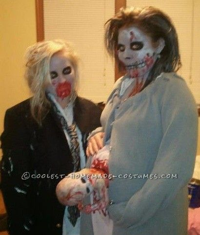 Gory Pregnant Zombie Costume Diy costumes, Halloween costumes and