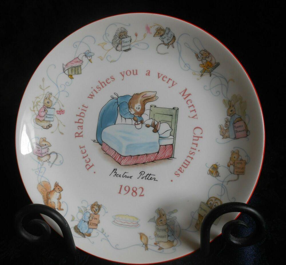 Wedgwood Peter Rabbit Nursery 1982 Christmas Plate