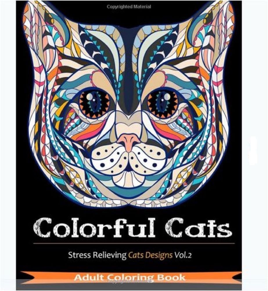 Stress relieving cats coloring - Adults Coloring Book Cat Color Relax Paperback Kids Play Designs Stress Relief