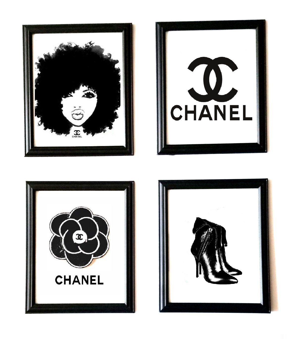 Coco Chanel Wall Decor Coco Chanel Art Coco Chanel Wall Art Shop Fame Chanel Wall Art Chanel Wall Decor Logo Wall