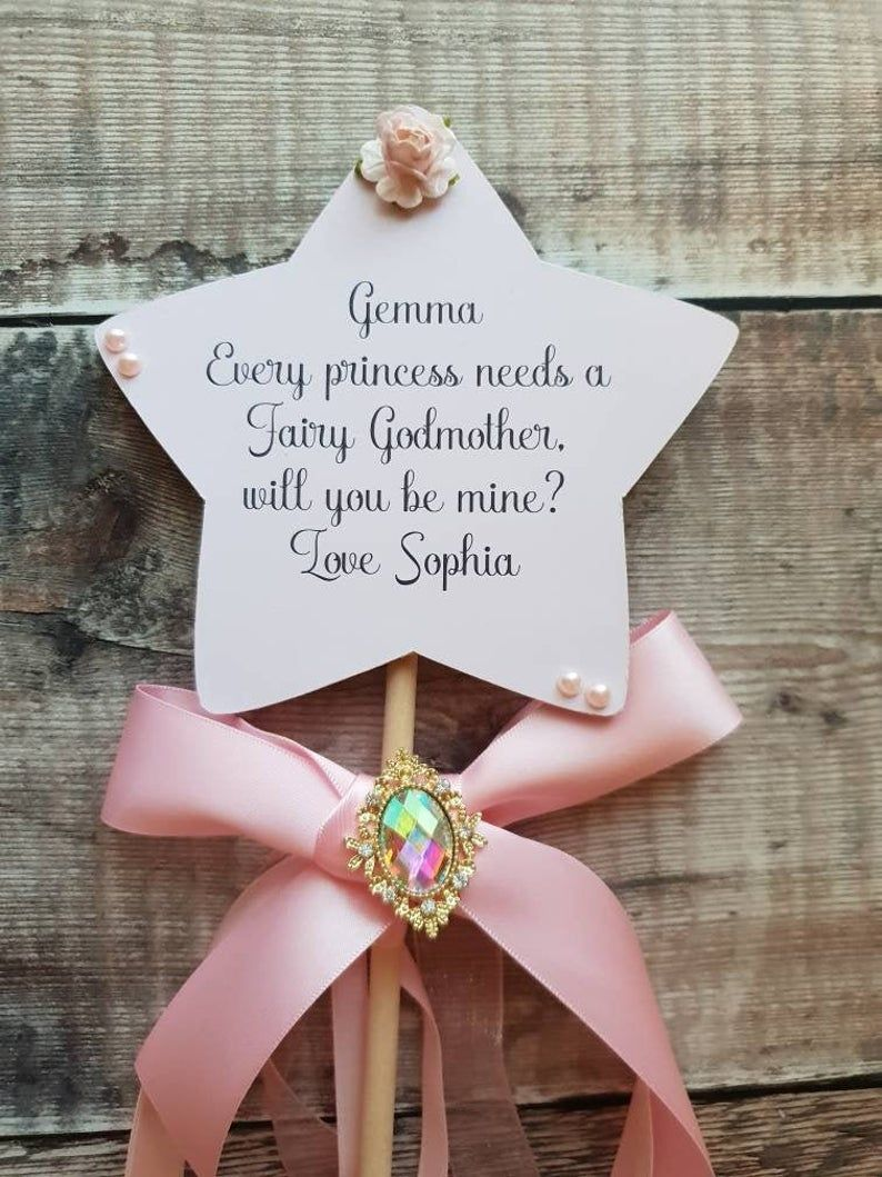 Fairy godmother wand godmother gift godparents will