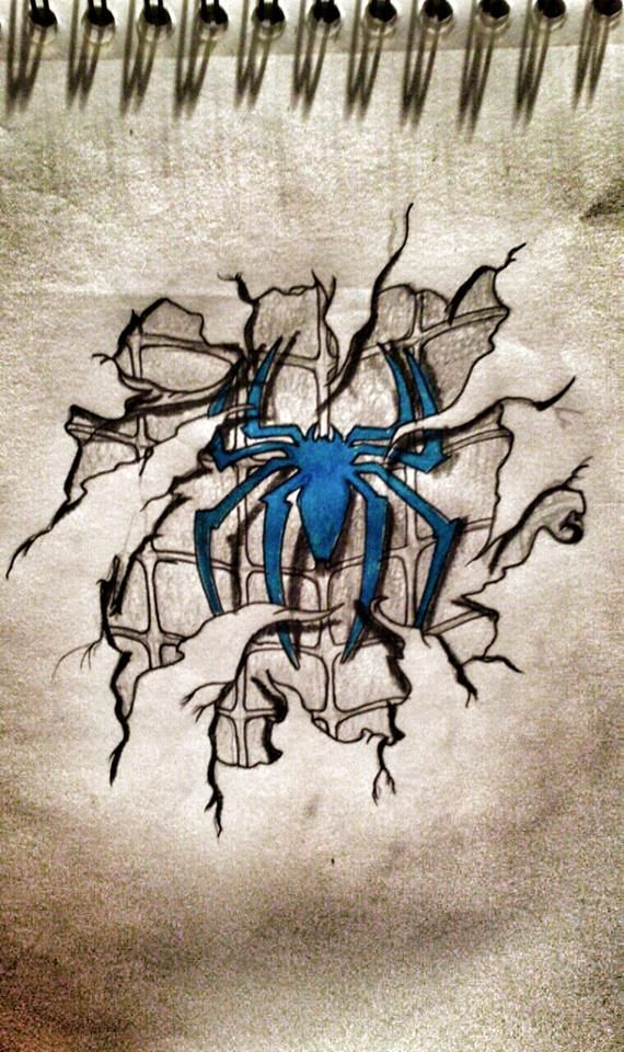 blue spiderman logo underneath cracked skin niwreson tattoo designs pinterest spiderman. Black Bedroom Furniture Sets. Home Design Ideas