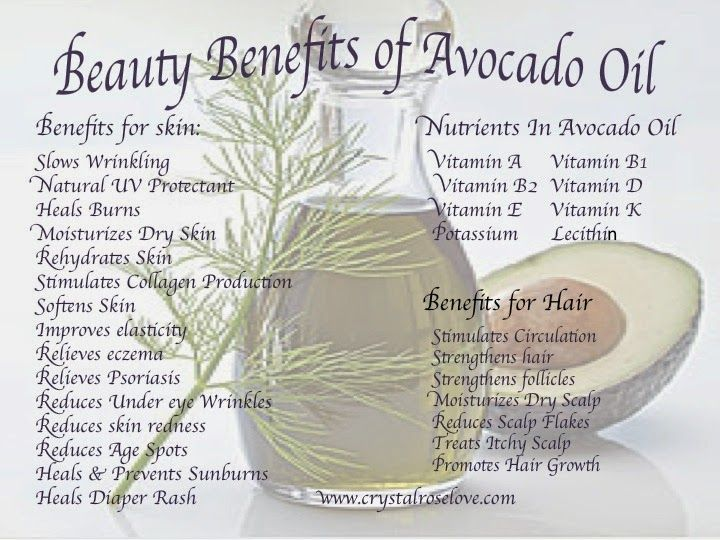 The Beauty Benefits Of Avocado Oil Plus Great Diy Hair And Skin Treatments Using Avocado Skin Treatments Skin Benefits Avocado Benefits