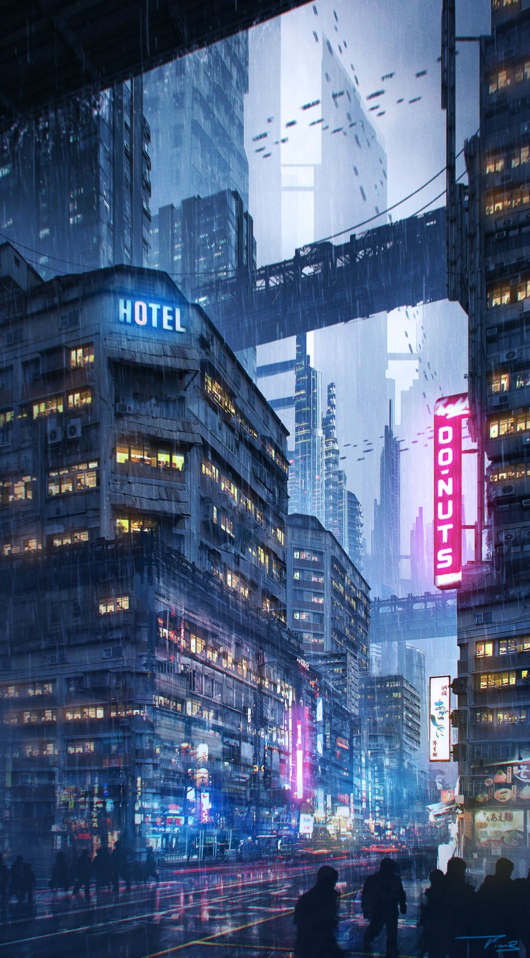 Properties leaves, anime futuristic city remarkable, useful