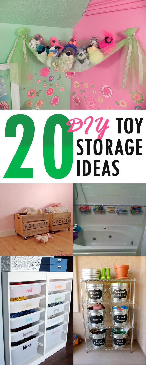 20 Simple And Affordable Diy Toy Storage Ideas Diy Toy Storage Small Kids Room Storage Kids Room