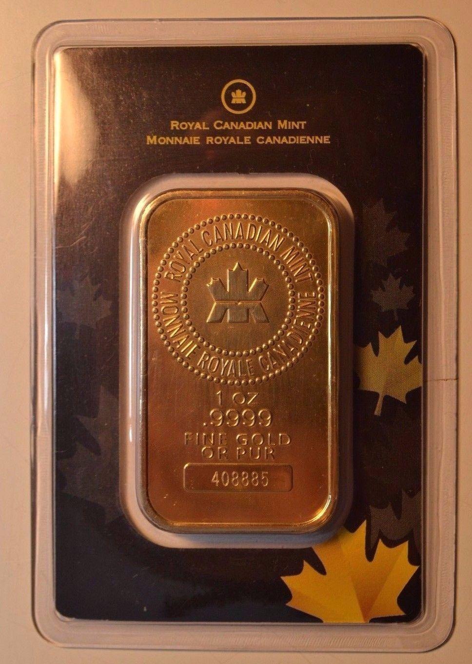 Canada Rcm 1 Oz 9999 Fine Gold Bullion Bar In Tep Packet Goldinvestment Goldbullion Gold Investments Gold Bullion Bars Gold