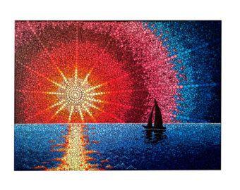 Origineel schilderij van de Mandala Dot hand gemaakt door