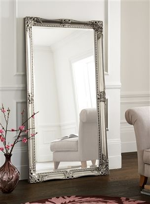 Pewter Floor Standing Mirror From Next