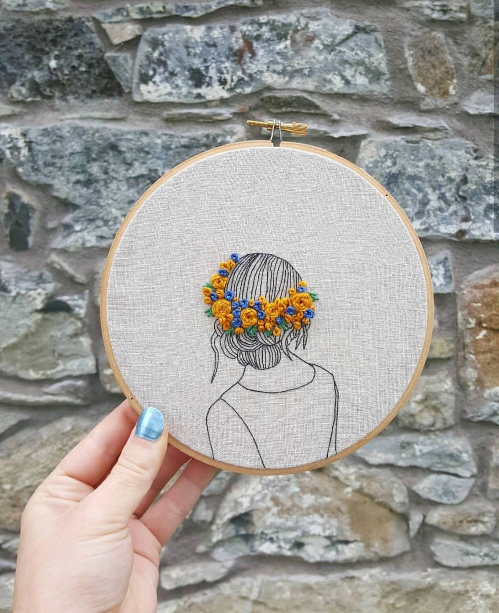 Handmade embroidery art