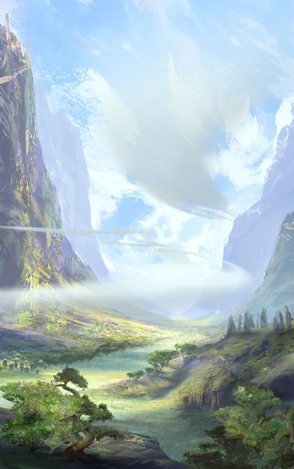 11 Examples Of Wonderful Concept Art By Joe Watmough Anime Scenery Fantasy Art Landscapes Fantasy Landscape