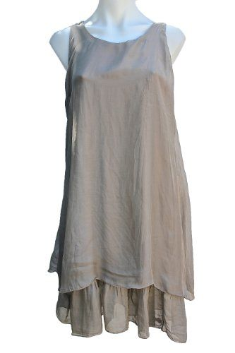 Women 39 S Italian Layered Silk Summer Dress Terra Nomad