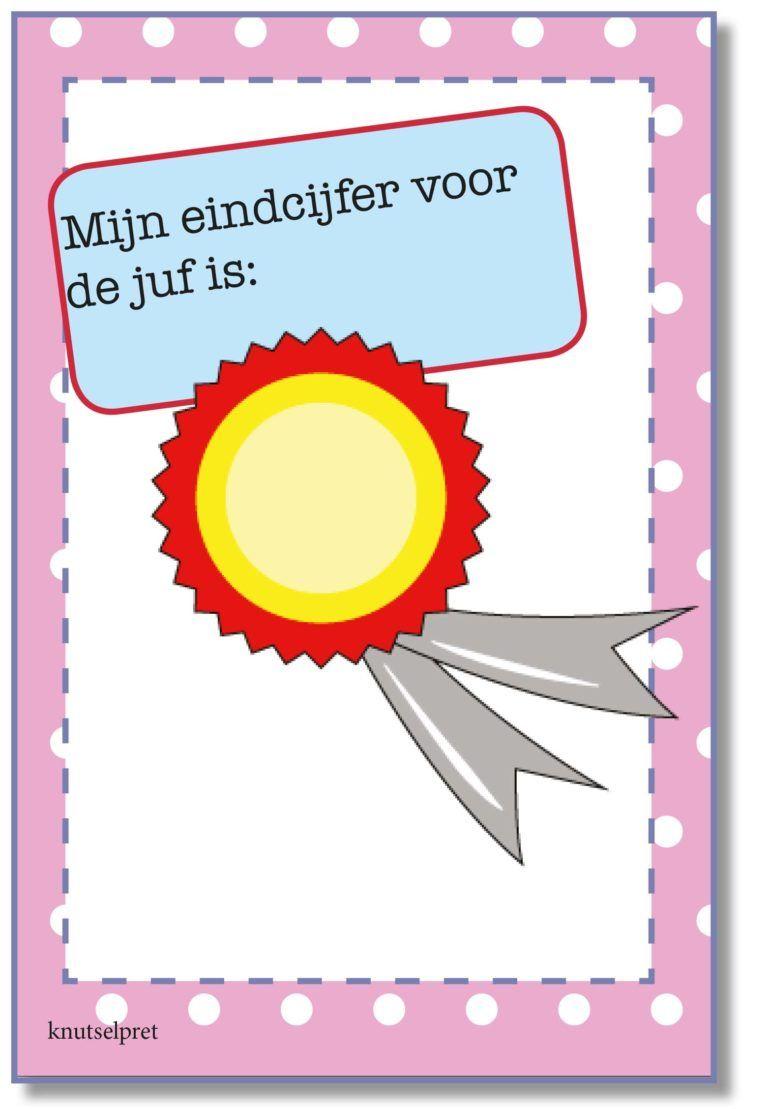 Zoek Je Een Afscheidscadeautje Voor De Meester Of Juf Hier Vind Je Een Rapport Voor De Leerkracht Knutselen Juffendag Knutselwerk Bedankjes