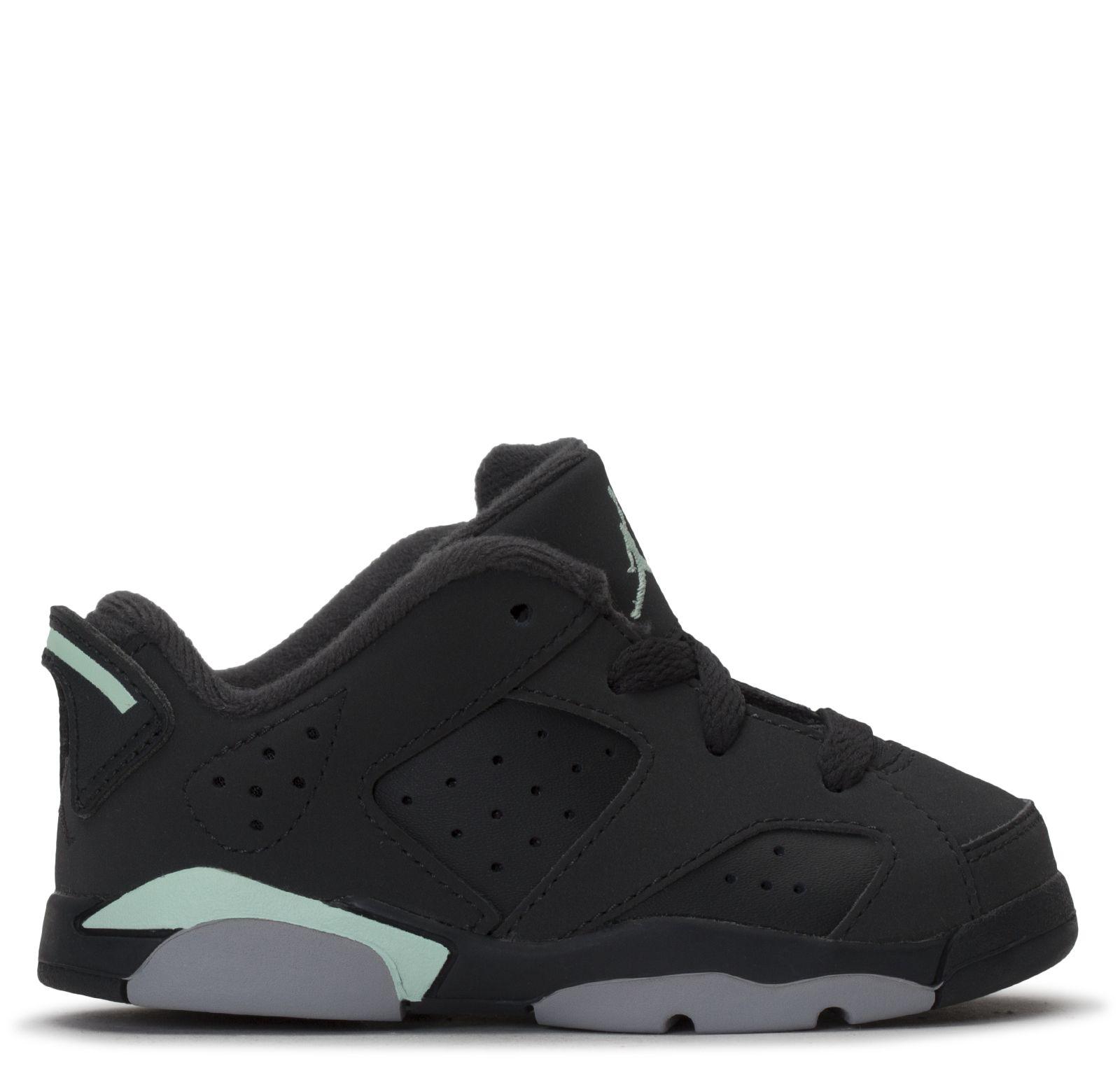 Nike Girls' Toddler Jordan Retro 6 Low Basketball Shoes, Grey DTLR
