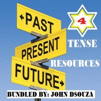This Bundle Includes: 1. Present Tense - Lesson Resources/a> 2. Past Tense - Lesson Resources 3. Future Tense - Lesson Resources 4. Tense Worksheets with Answers...