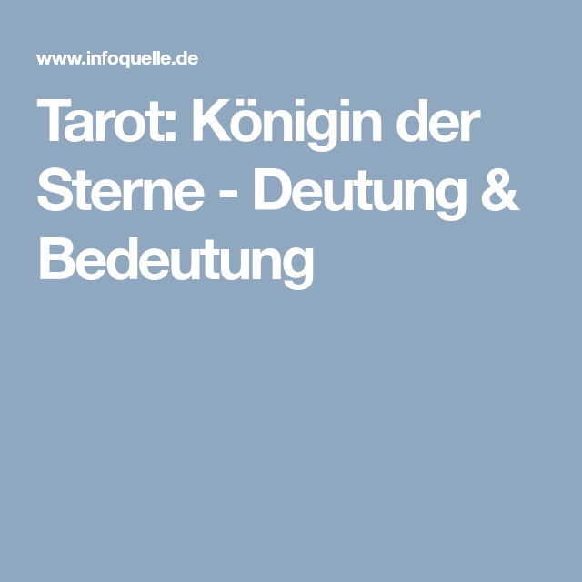Infoquelle tageskarte Tarot gratis