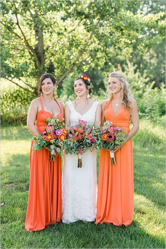 Colorful And Eclectic New York Wedding Weddings Bridesmaid