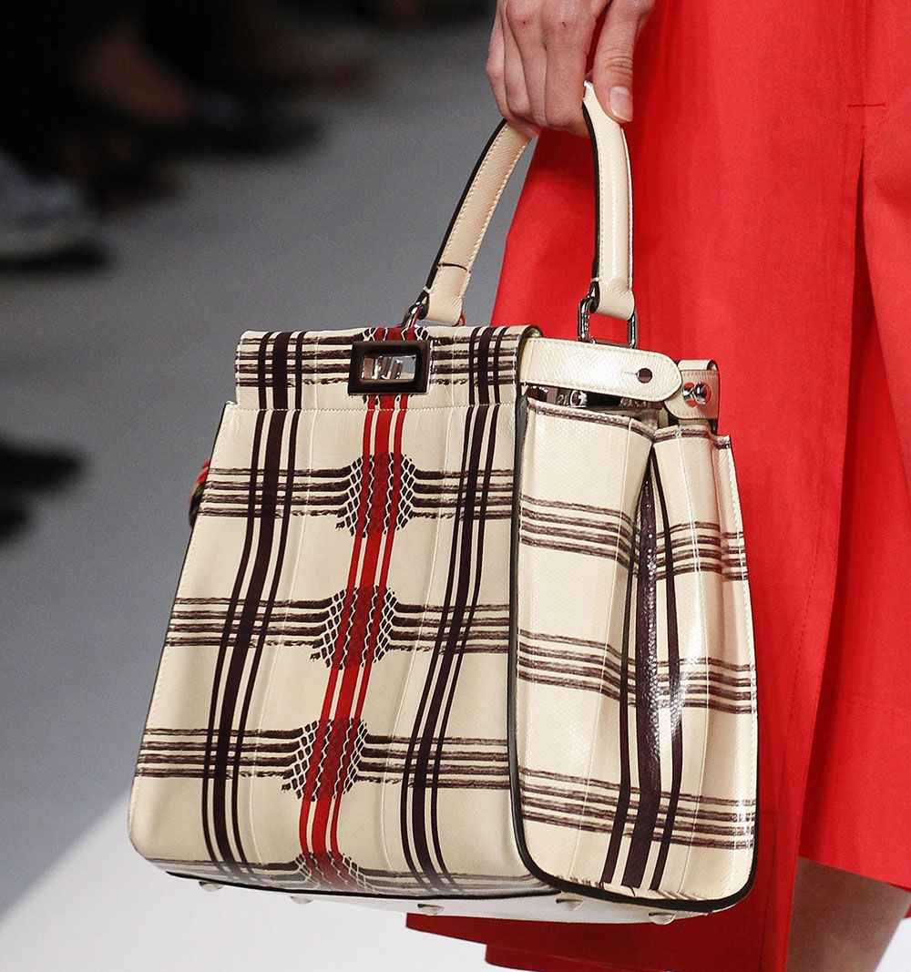 Fendi S Spring 2018 Bags Use Logos And Plaid To E Up Kaboos Bucket Lanvin