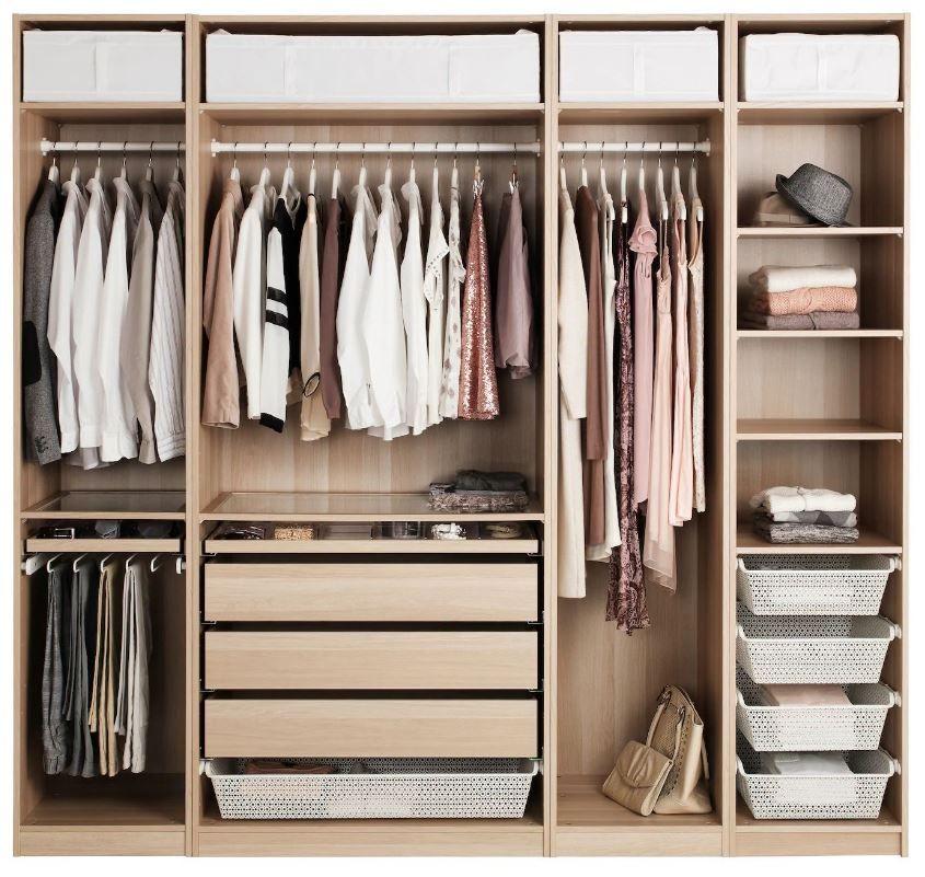 Dressing Ikea : 12 modèles pratiques et fonctionnels en 2020   Amenagement dressing ikea ...