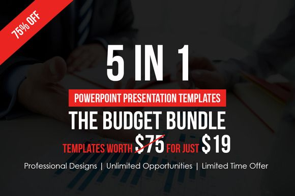 5 in 1 budget powerpoint bundle by creative slides on creative