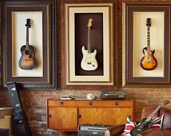 poner un marco al rededor de donde cuelgo la guitarra | Somewhere ...