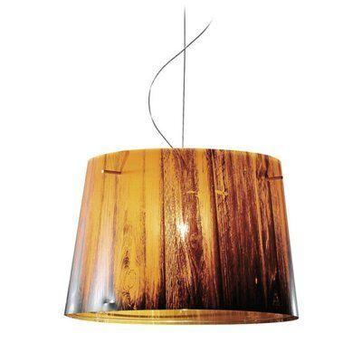 ZANEEN design Woody 1 - Light Single Drum Pendant Finish: Orange,  #design #Drum #finish #Light #Orange #Pendant #Single #Woody #ZANEEN,  #DiyAbschnitt, Diy Abschnitt,