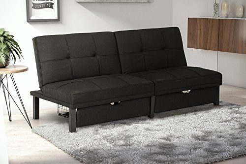 Dhp Premium Skye Sofa Futon Space Saving Storage Drawers And Rich