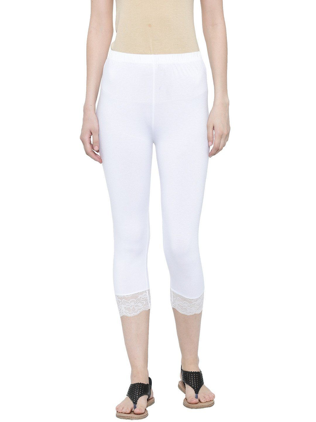 De Moza Ladies 3 4th Leggings Offwhite Cybermonday Discount
